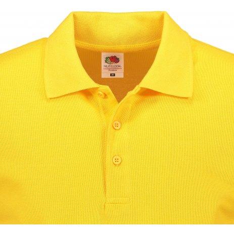 Pánské triko s límečkem FRUIT OF THE LOOM PREMIUM POLO SUNFLOWER