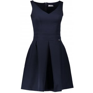 Dámské šaty NUMOCO A160-2 TMAVĚ MODRÁ