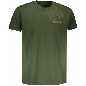 Pánské triko s krátkým rukávem ALTISPORT BEKITRO KHAKI