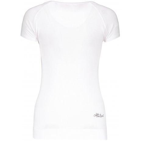 Dámské triko s krátkým rukávem ALTISPORT ZELA BÍLÁ