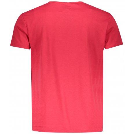 Pánské triko s krátkým rukávem OMBRE AS1132 RED