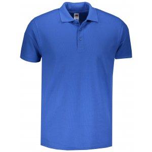 Pánské triko s límečkem FRUIT OF THE LOOM PREMIUM POLO ROYAL BLUE