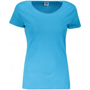 Dámské tričko FRUIT OF THE LOOM ORIGINAL AZURE BLUE