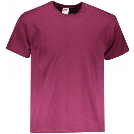 Pánské tričko FRUIT OF THE LOOM ORIGINAL BURGUNDY