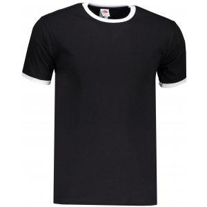 Pánské triko FRUIT OF THE LOOM VALUEWEIGHT RINGER T BLACK/WHITE