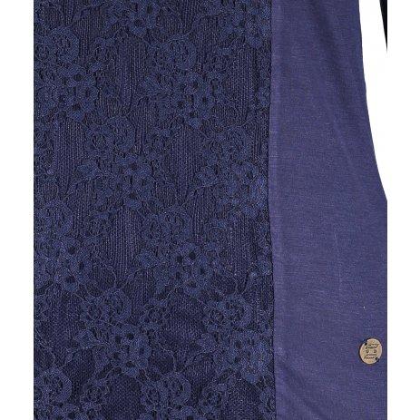 Dámské triko s dlouhým rukávem KIXMI IVONNE MODRÁ