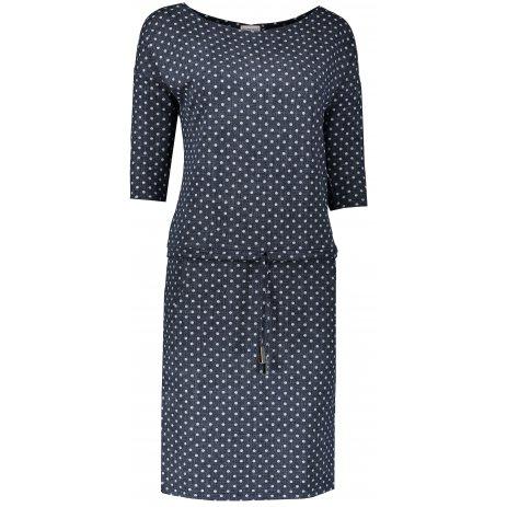 Dámské šaty NUMOCO  A13-97 MODRÁ POTISK