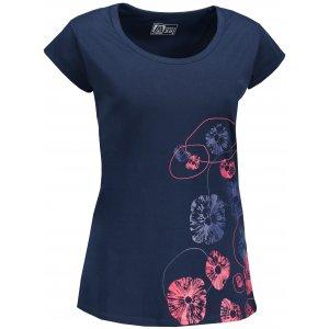 Dámské triko s krátkým rukávem ALTISPORT MANAKARA TMAVĚ MODRÁ