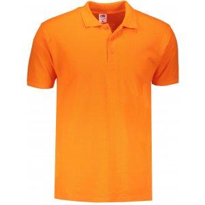 Pánské triko s límečkem FRUIT OF THE LOOM PREMIUM POLO ORANGE