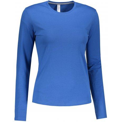 Dámské triko s dlouhým rukávem KARIBAN LIGHT ROYAL BLUE