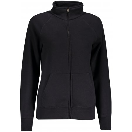 Dámská mikina FRUIT OF THE LOOM LADY-FIT PREMIUM SWEAT JACKET BLACK