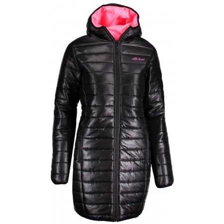 Dámský kabát ALTISPORT RENA LCTP114 ČERNÁ