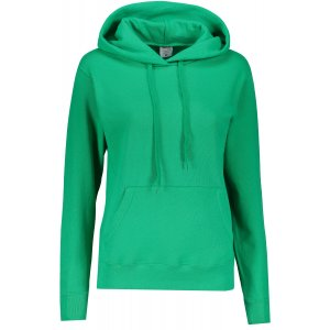 Dámská mikina s kapucí FRUIT OF THE LOOM CLASSIC SWEAT KELLY GREEN