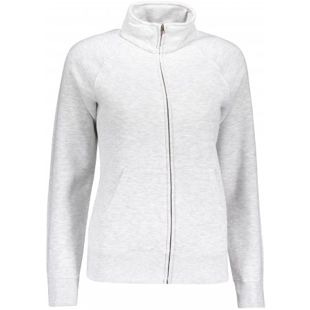 Dámská mikina FRUIT OF THE LOOM LADY-FIT PREMIUM SWEAT JACKET HEATHER GREY