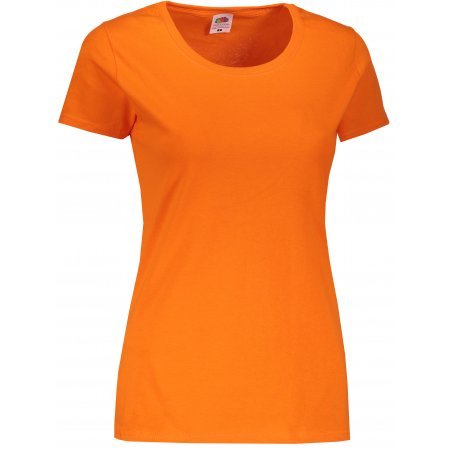 Dámské triko FRUIT OF THE LOOM LADY-FIT VALUEWEIGHT T ORANGE