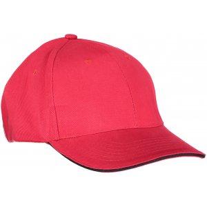 Kšiltovka K-UP ORLANDO RED/BLACK