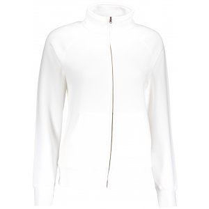 Dámská mikina FRUIT OF THE LOOM LADY-FIT PREMIUM SWEAT JACKET WHITE