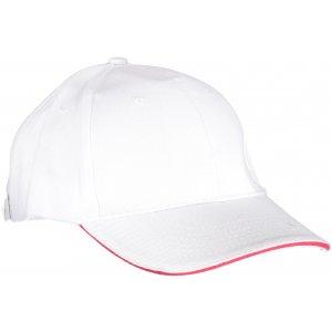 Kšiltovka K-UP ORLANDO WHITE/RED