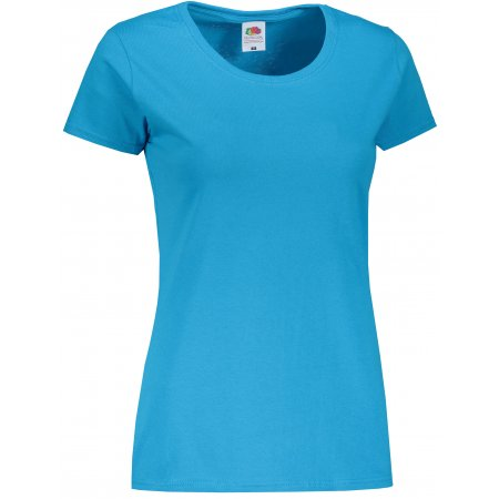Dámské triko FRUIT OF THE LOOM LADY-FIT VALUEWEIGHT T AZURE BLUE