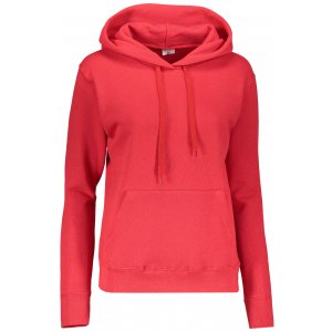 Dámská mikina s kapucí FRUIT OF THE LOOM CLASSIC SWEAT RED