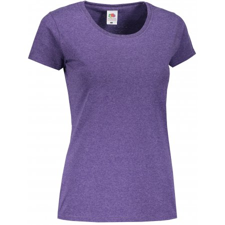Dámské triko FRUIT OF THE LOOM LADY-FIT VALUEWEIGHT T HEATHER PURPLE