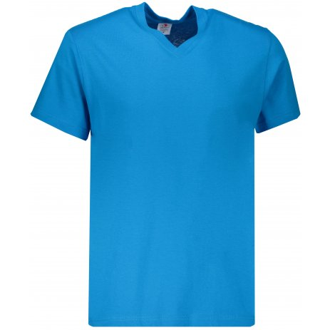 Pánské triko STEDMAN CLASSIC-T V-NECK OCEAN BLUE