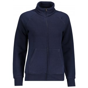 Dámská mikina FRUIT OF THE LOOM LADY-FIT PREMIUM SWEAT JACKET DEEP NAVY