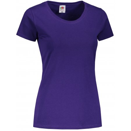 Dámské triko FRUIT OF THE LOOM LADY-FIT VALUEWEIGHT T PURPLE