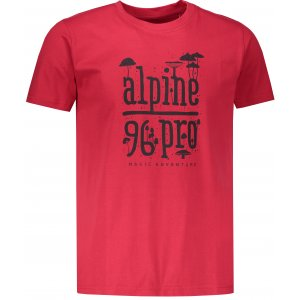 Pánské triko ALPINE PRO UNEG 7 MTSP405 ČERVENÁ