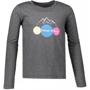 Dětské triko ALPINE PRO TEOFILO 8 KTSP200 TMAVĚ ŠEDÁ