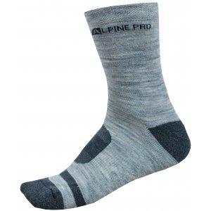Ponožky ALPINE PRO GENTIN 2 USCP038 TMAVĚ ŠEDÁ