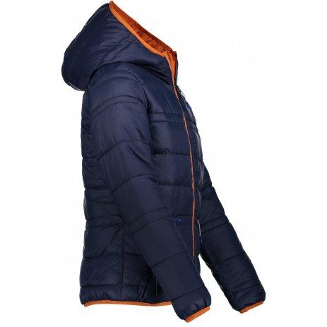Dětská oboustranná zimní bunda ALPINE PRO SELMO KJCP149 TMAVĚ MODRÁ