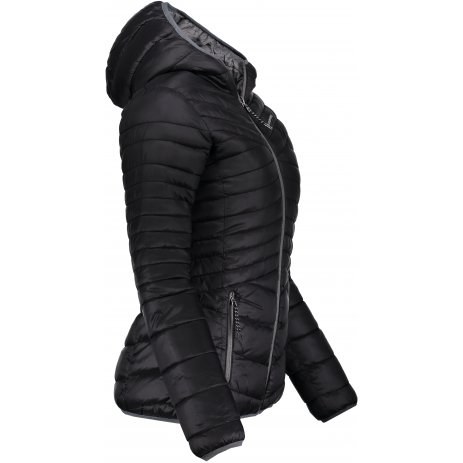 Dámská oboustranná zimní bunda ALPINE PRO MUNSRA 5 LJCP346 ČERNÁ