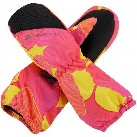 Dětské rukavice ALPINE PRO HANGO KGLP009 RŮŽOVÁ