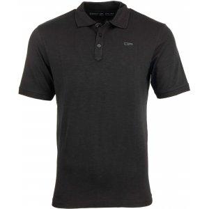 Pánské triko s límečkem ALPINE PRO SIMEON MTSP511 ČERNÁ