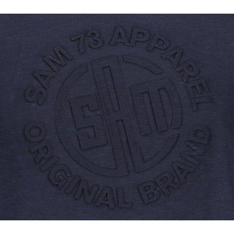Pánské triko s krátkým rukávem SAM 73 MT 755 TMAVĚ MODRÁ