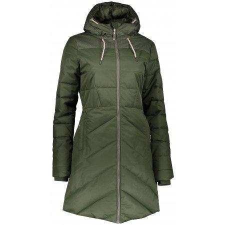 Dámský zimní kabát ALPINE PRO TESSA 3 LCTP098 TMAVĚ ZELENÁ
