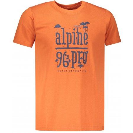 Pánské triko ALPINE PRO UNEG 7 MTSP405 ORANŽOVÁ