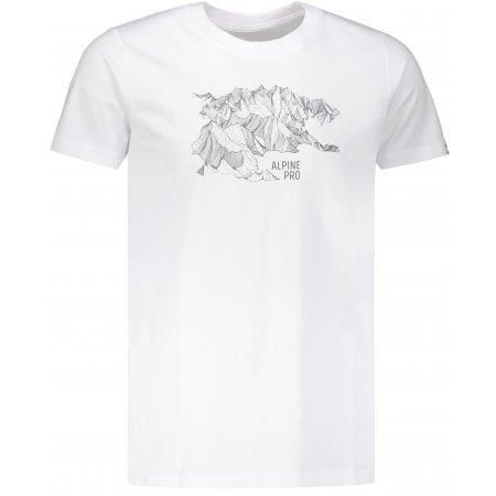 Pánské triko ALPINE PRO UNEG 7 MTSP405 BÍLÁ POTISK