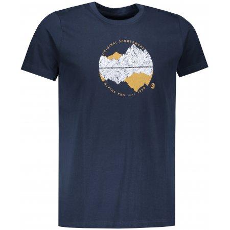 Pánské triko ALPINE PRO UNEG 7 MTSP405 TMAVĚ MODRÁ