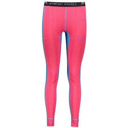 Dámské termo kalhoty ALPINE PRO SUSY 2 LUNP053 RŮŽOVÁ/MODRÁ