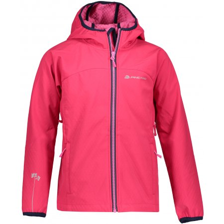 Dívčí softshellová bunda ALPINE PRO NOOTKO 8 KJCP145 RŮŽOVÁ