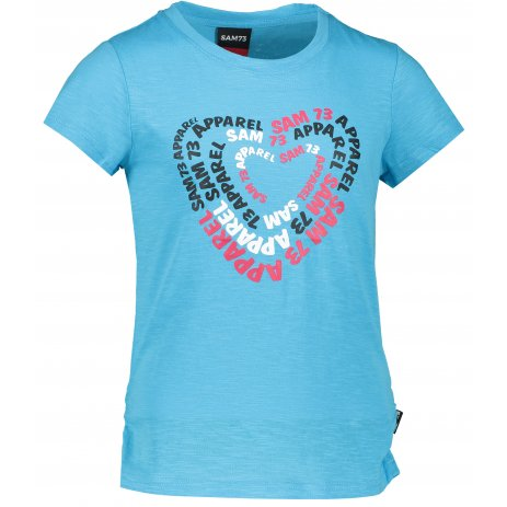 Dívčí triko s krátkým rukávem SAM 73 GT 530 NEON MODRÁ