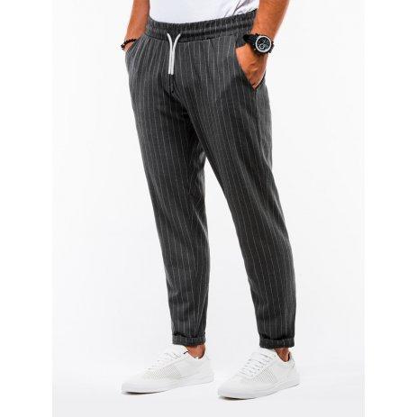 Pánské kalhoty OMBRE AP852 DARK GREY
