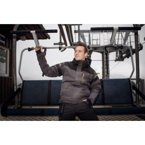 Pánská lyžařská bunda ALTISPORT VIRGE TMAVĚ ŠEDÁ