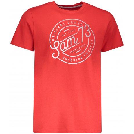 Pánské triko s krátkým rukávem SAM 73 MTSP429 ČERVENÁ