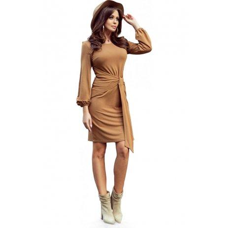 Dámské šaty NUMOCO JENNY A275-1 HNĚDÁ