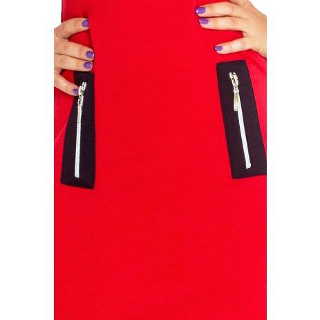 Dámské šaty NUMOCO A129-3 ČERVENÁ