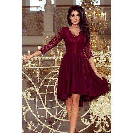 Dámské šaty NUMOCO NICOLLE A210-1 BORDO