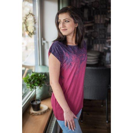 Dámské triko s krátkým rukávem ALTISPORT JULITTA LTSR641 VÍNOVÁ